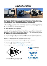 Rohlwing Transport sucht Azubis